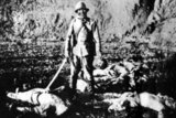 The Rape of Nanking: 'Today, we did it again. We pushed innocent Chinese down and beat them up. When they were half dead, we pushed them into ditches and burned them, torturing them to death. Everyone gets his entertainment this way to get rid of the boredom. If this had happened in Japan, it would be an enormous incident. But here it's like killing dogs and cats'. – An excerpt from a Japanese soldier's diary